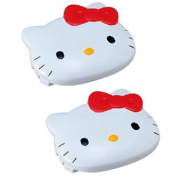〔小禮堂〕Hello kitty 汽車安全帶調整器《白KT臉.2入》減低乘車壓迫感