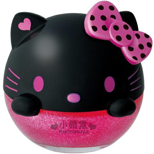 〔小禮堂〕Hello Kitty 汽車芳香劑《黑桃.洗髮香》超可愛大頭造型