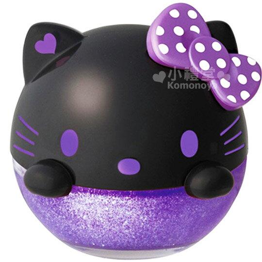 〔小禮堂〕Hello Kitty 汽車芳香劑《黑紫.檀香》超可愛大頭造型