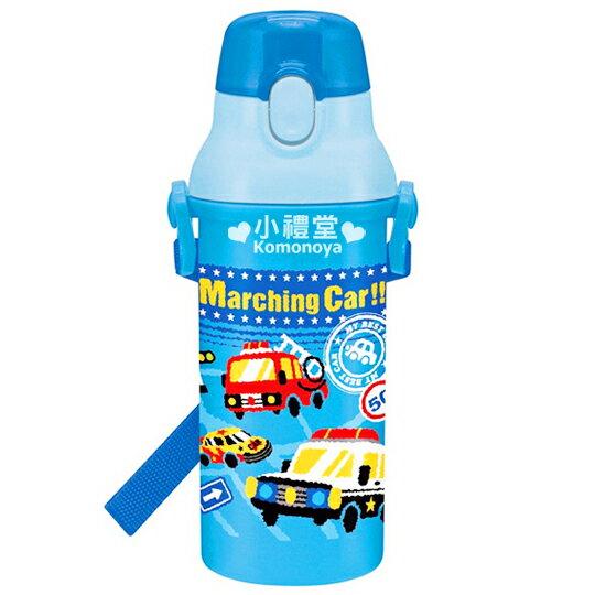 399↘〔小禮堂〕Marching Car 日製直飲式水壺~藍.車車~一按即開便利開口