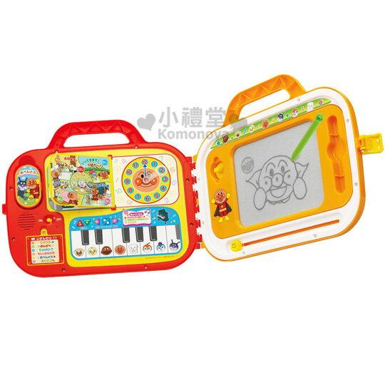〔小禮堂嬰幼館〕麵包超人 鋼琴小畫板 玩具《紅邊.黃.巴士圖案.多角色》教育類玩具
