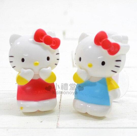 〔小禮堂韓國館〕Hello Kitty 造型牙刷架《2入.站姿.藍衣.紅衣》保持乾淨不潮溼