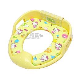 〔小禮堂韓國館〕Hello Kitty 子母軟式馬桶蓋《黃.點點.咬手指》再也不怕馬桶冷冰冰