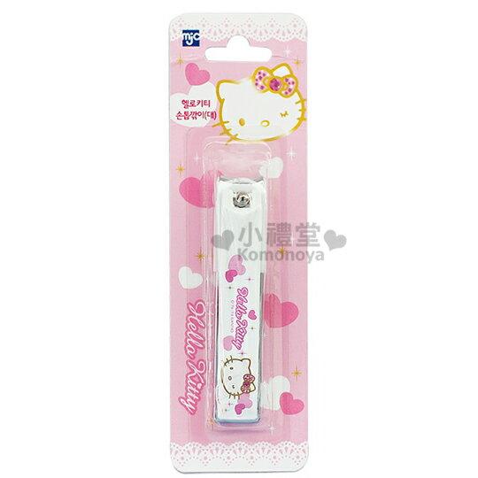 〔小禮堂韓國館〕Hello Kitty 指甲剪《大.白.大臉.眨眼》攜帶方便又可愛