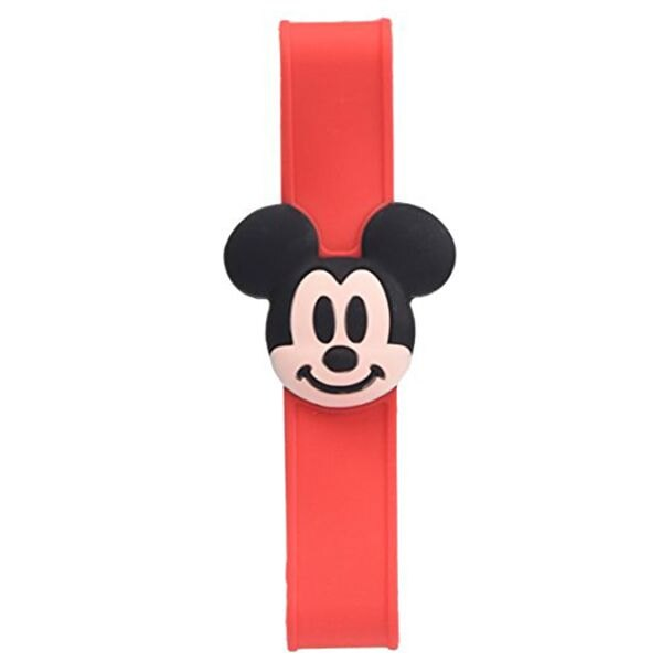 【領券折$30】小禮堂 迪士尼 米奇 矽膠便當盒束帶《紅.立體大臉》最大周圍長度30cm