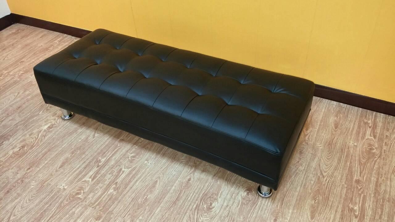!新生活家具! 皮沙發 靠腳椅 黑色 腳椅 沙發矮凳 長板凳 長椅凳 沙發腳椅 穿鞋椅《愛德華》 非 H&D ikea 宜家