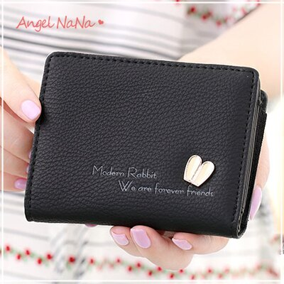 AngelNaNa 韓國風 皮夾。可愛 兔兔子耳朵 金屬 女短夾 零錢包【M174】
