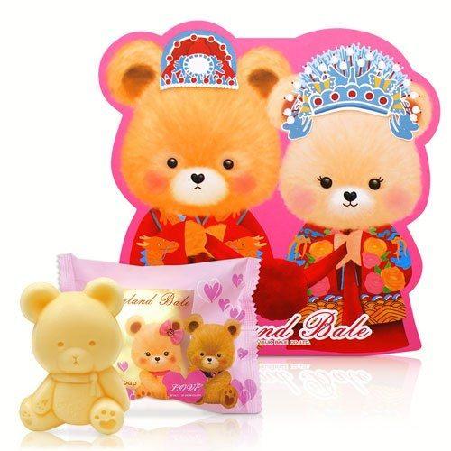 一定要幸福哦~~英國貝爾-熊熊抗菌皂50g-中式新人款, 婚禮小物,送客禮,姐妹禮