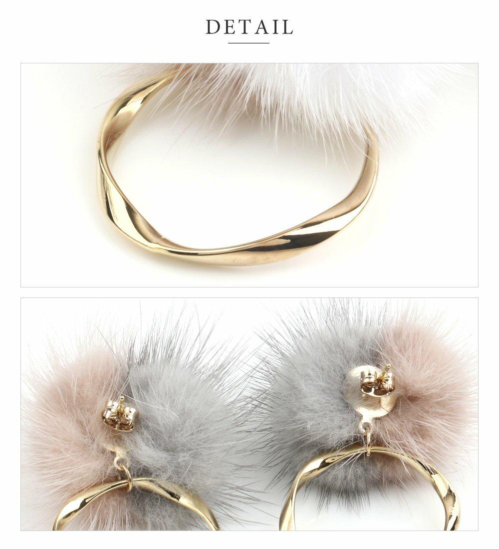 日本CREAM DOT  /  俏皮毛毛球耳環  /  a03590  /  日本必買 日本樂天直送(1890) 5