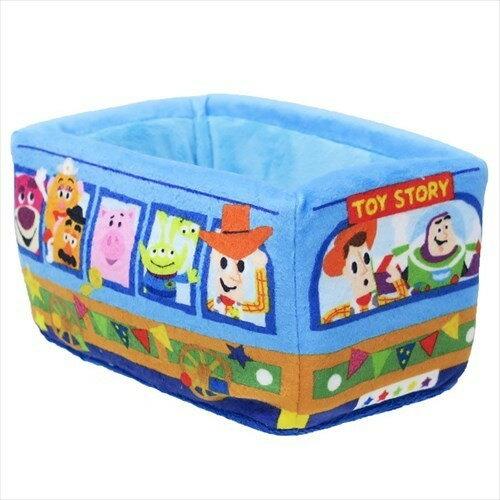 X射線【C067114】玩具總動員巴士絨毛收納盒,飾品盒收納盒小物置物架桌上收納筆筒