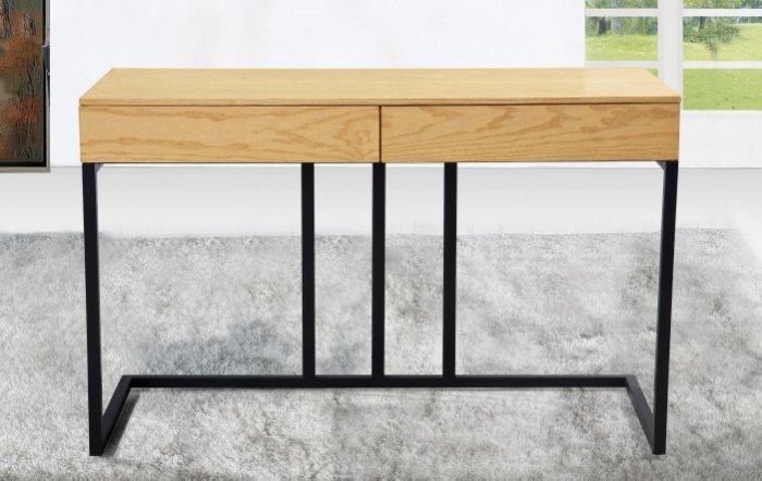 【尚品傢俱】JF-879-2 菁英4尺栓木本色二抽書桌