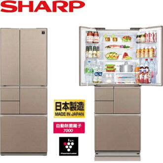 SHARP 夏普 SJ-GT50BT-T 501L 極鮮大冷凍庫冰箱 六門 日製 (星鑽棕)
