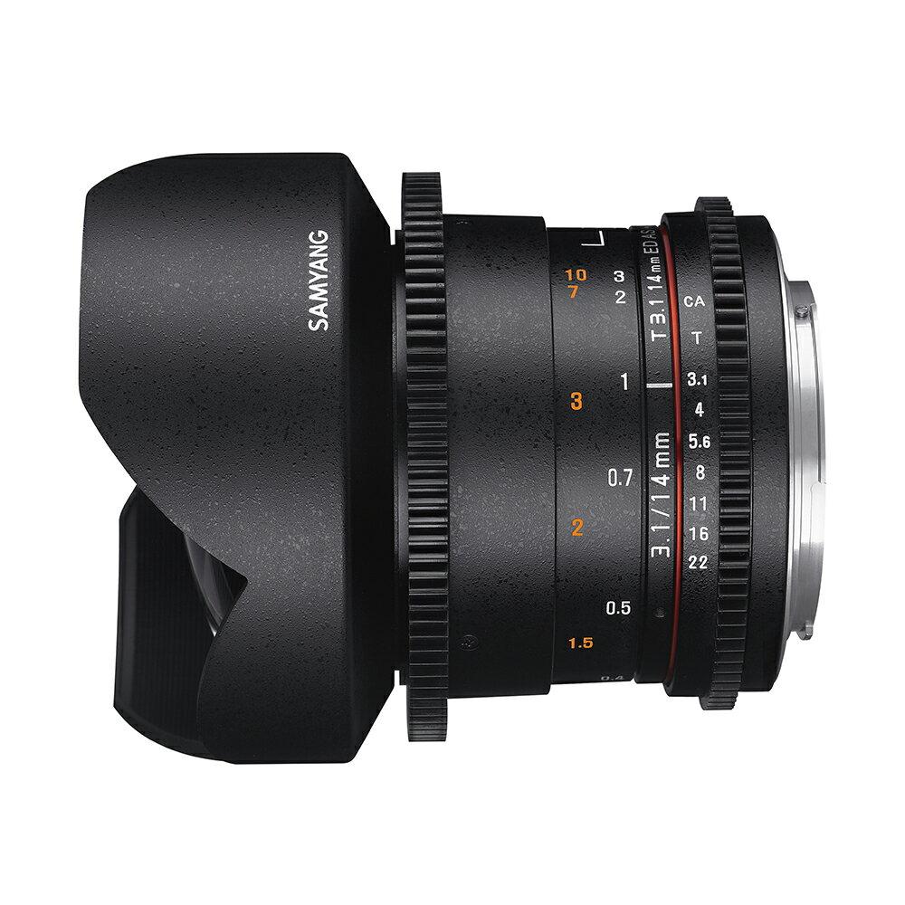Samyang鏡頭專賣店: 14mm/T3.1 ED ASPH超廣角 for Canon CSII(微電影 鏡頭 5D 5D2 5D3 6D 7D 1D4)  二個月保固