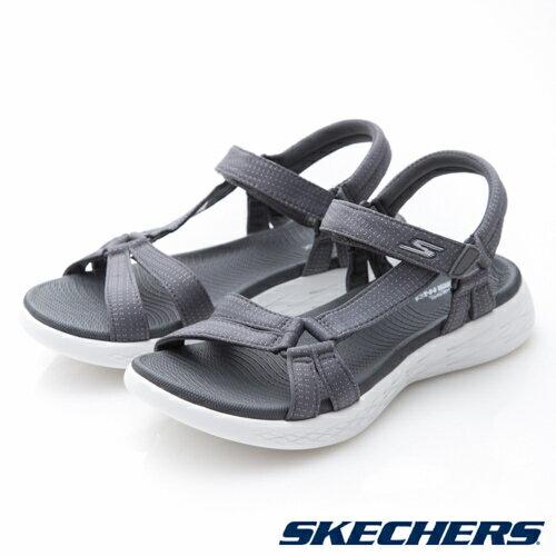 【SKECHERS 促銷95折】SKECHERS (女) ON THE GO 600 時尚休閒涼鞋 / 灰 - 15316CHAR