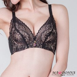 【MADONNA 瑪丹娜】愛戀蕾絲托高集中胸罩 A罩杯 1件組 2655 機能 包副乳 托高 內衣 黑 A32 A34 A36 A38