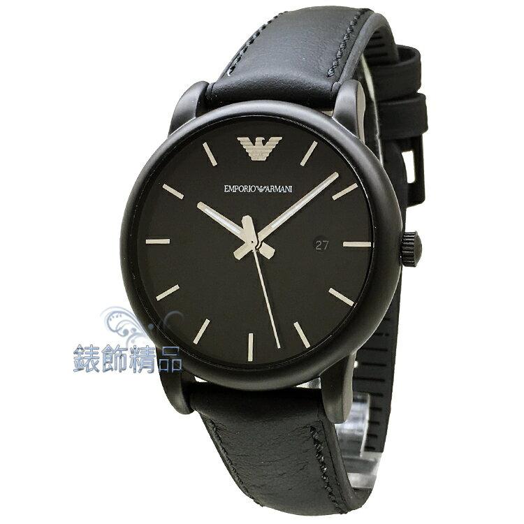 【錶飾精品】ARMANI手錶 亞曼尼表 都會簡約 AR1973 黑框黑膠帶男錶 日期 全新原廠正品 情人生日禮物