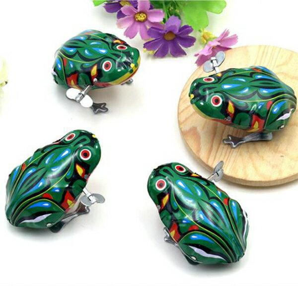 【省錢博士】上鍊鐵皮青蛙懷舊發條玩具