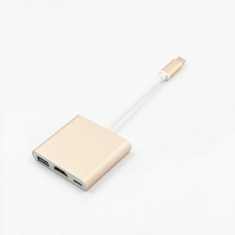 【生活家購物網】Type-C轉HDMI + USB3.0 多功能轉換器 USB 擴充 FHD 1080P影音輸出 支持OTG 充電