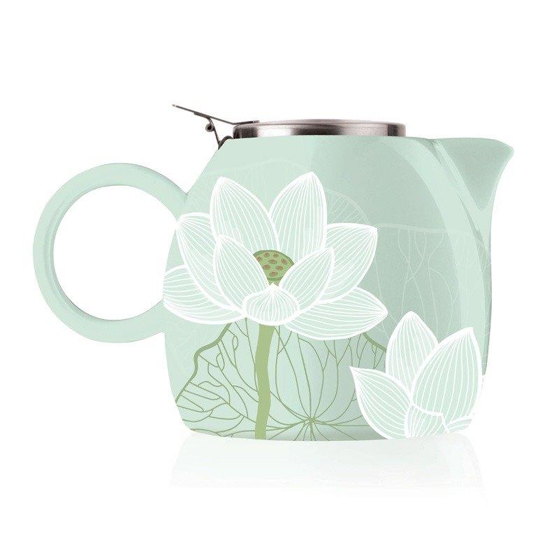Tea Forte 普格陶瓷茶壺 - 蓮花 Lotus  送 罐裝茶(隨機出貨) 0
