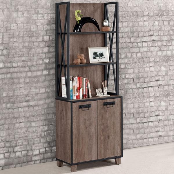 書櫃《Yostyle》山姆工業風2尺書櫃有門書櫃大型書櫃櫥櫃展示櫃