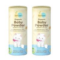 【Lamoonbaby】有機嬰兒爽身粉/50g x2罐-麗嬰房-媽咪親子推薦
