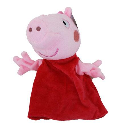 敵富朗超巿:【敵富朗超巿】6吋粉紅豬小妹手偶