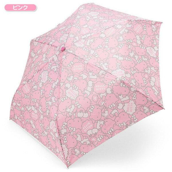【真愛日本】16032500015造型頭折疊傘-粉臉粉 三麗鷗 Hello Kitty 凱蒂貓 折疊傘 晴雨傘 雨具