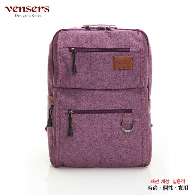 【vensers】簡約丹寧牛仔後背包(R00066102紫色) 0