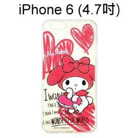 Melody 美樂蒂透明軟殼 [手繪] iPhone 6 4.7吋【三麗鷗正版授權】