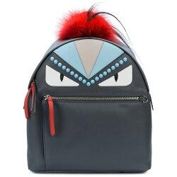【寶思精品正貨保證】Fendi 芬迪 中款 Monster Bug 皮草裝飾後背包 多色
