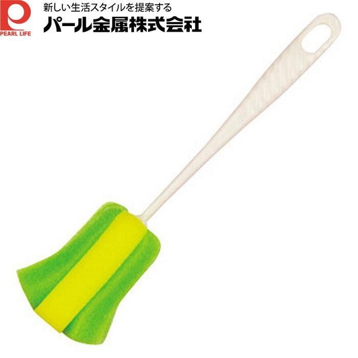 【日本PEARL】廣口保溫瓶清潔刷-綠色