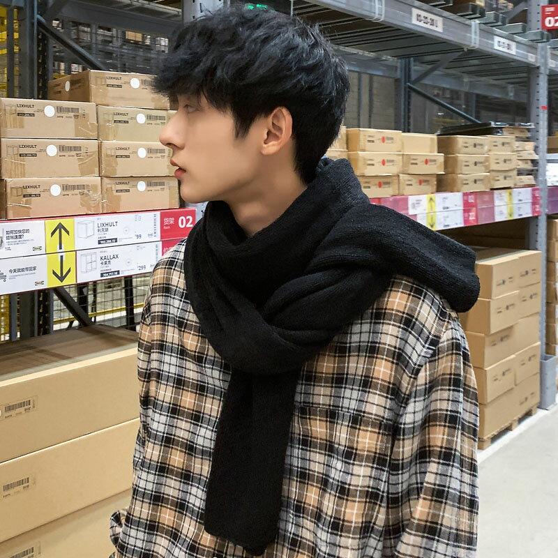 日系圍巾男冬季學生韓版 百搭年輕人生日禮物男士情侶圍脖女潮