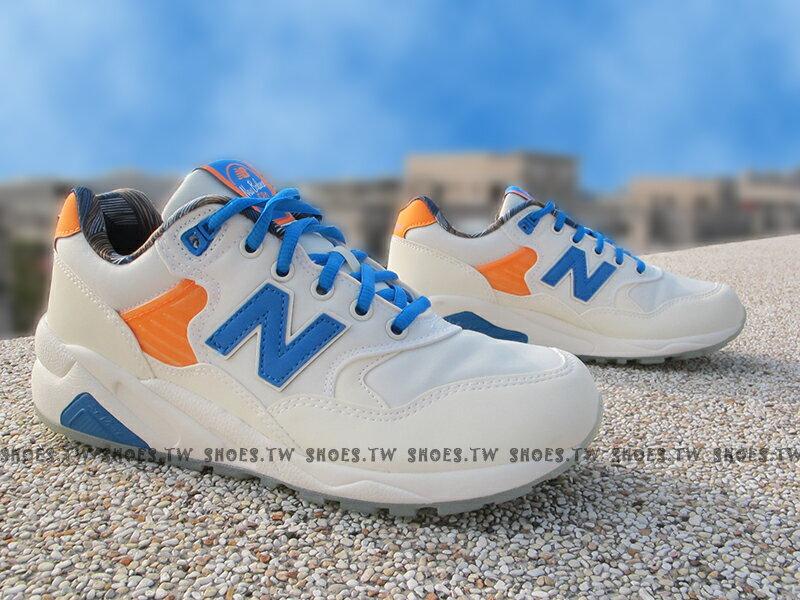 [24cm]《超值1380》Shoestw【MRT580GG】NEW BALANCE 復古慢跑鞋 米白藍 女生尺寸