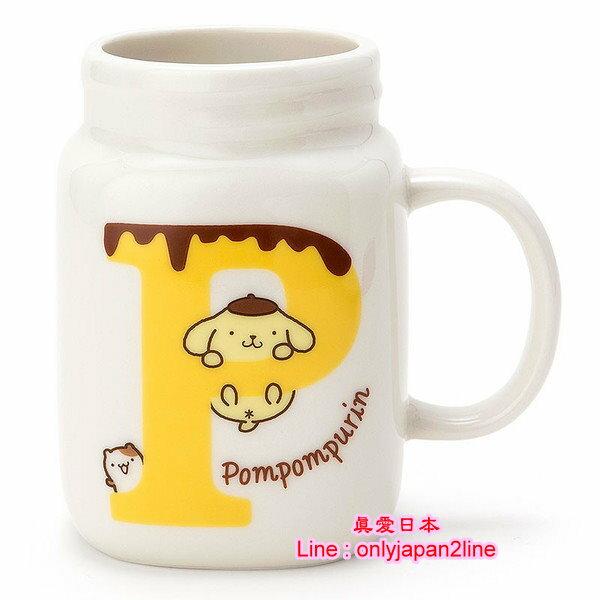 【真愛日本】16091400015罐型馬克杯-布丁狗字母P 三麗鷗家族 布丁狗 馬克杯 水杯 杯子 正品
