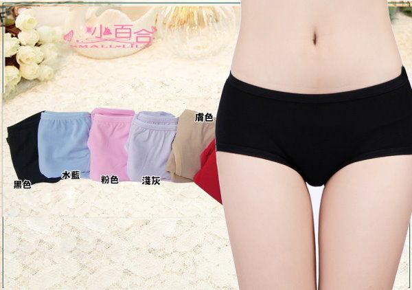 波波小百合【6118】TACTEL素材 低腰 平口內褲 彈性 柔軟 台灣製