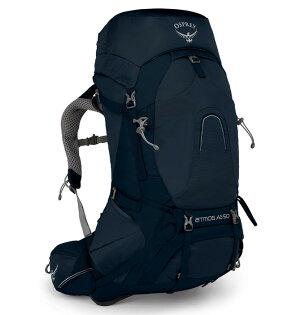 【Osprey美國】ATMOSAG50輕量登山背包自助旅行健行背包網架背包男款團結藍〈容量50L〉/AtmosAG50
