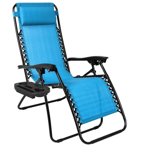 Best Choice Products Set of 2 Zero Gravity Chairs w/ Cup Holders - Light Blue  sc 1 st  Rakuten.com & BestChoiceProducts: Best Choice Products Set of 2 Zero Gravity ...
