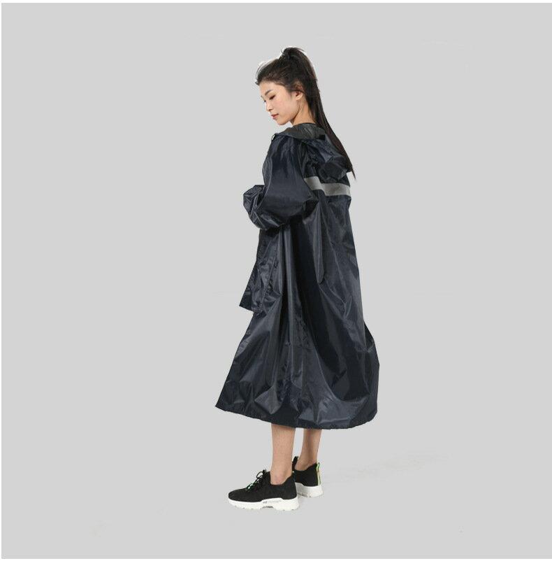 【限時結帳領券現折30】連體雨衣反光雨衣成人加厚長款雨衣時尚戶外徒步騎行雨衣 【妙吉生活館】