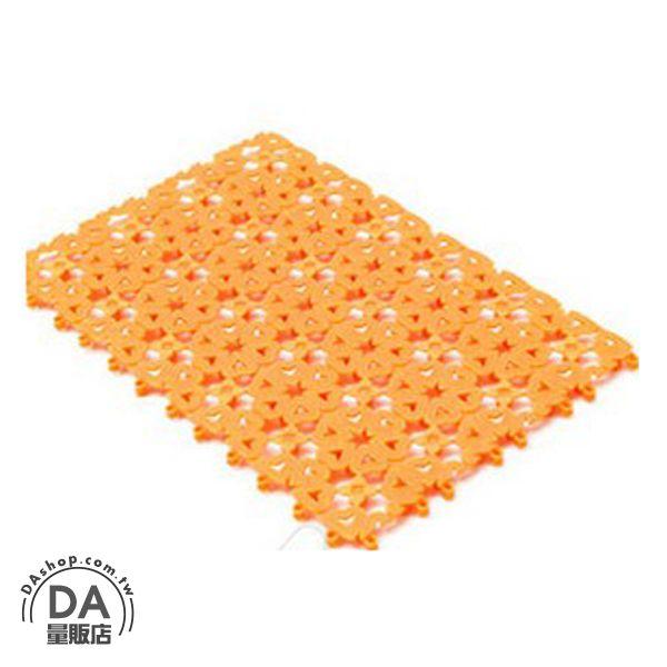 《居家用品任選四件9折》糖果色 花朵 愛心 夏日 拼接 浴室 止滑墊 防滑墊 橘色(V50-0089)
