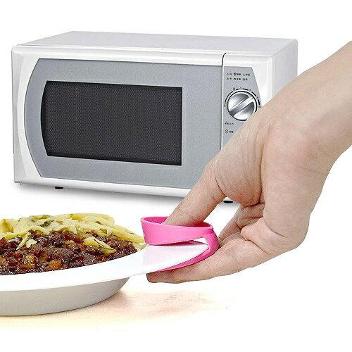 日本sanada粉紅豬隔熱止滑取盤夾