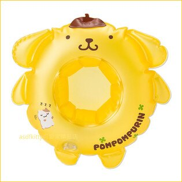 asdfkitty可愛家☆布丁狗造型充氣杯墊置物盤兒童洗澡玩具-泡澡喝飲料-日本正版商品