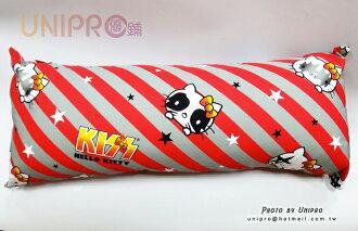 【UNIPRO】Hello Kitty KISS系列 條紋雙人枕 長枕 靠枕 凱蒂貓 三麗鷗 正版授權 枕套可拆洗