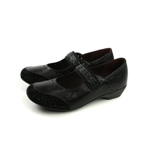 HUMAN PEACE:HUMANPEACE娃娃鞋懶人鞋休閒皮質黑色女鞋3336-1no001