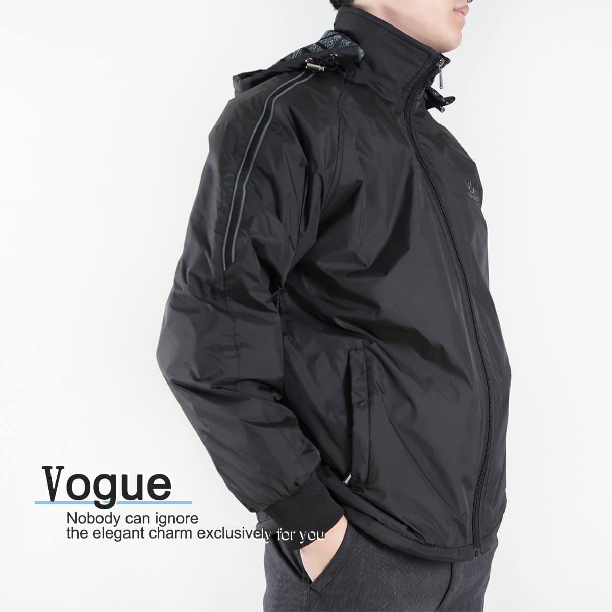 內舖絨布保暖風衣外套 保暖外套 騎士外套 夾克外套 防風外套 黑色外套 FLANNEL LINED WINDBREAKER JACKETS (312-6077-21)黑色 L XL 2L(胸圍46~51英吋) [實體店面保障] sun-e 4