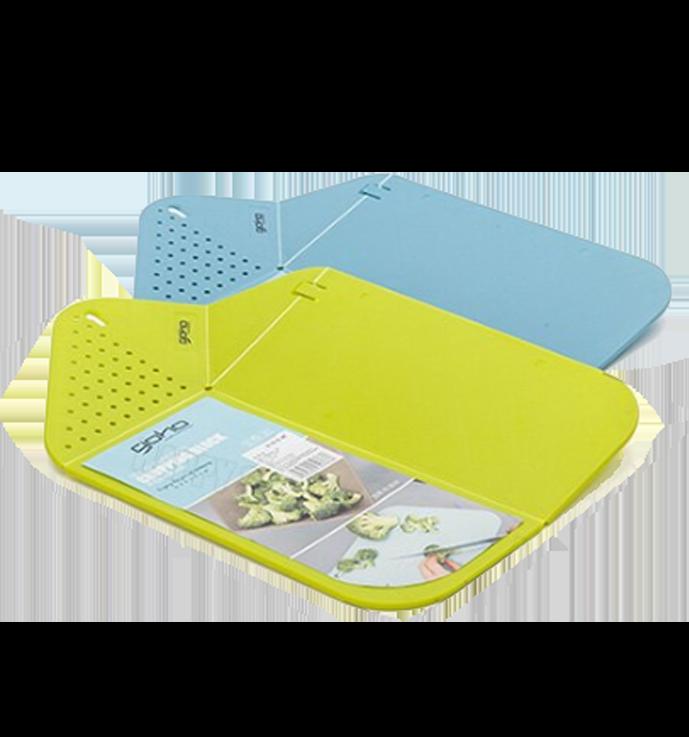 多用可折疊菜板砧板易折塑膠案板廚房懸掛收納切菜板可折疊濾水-綠/藍【AAA4990】