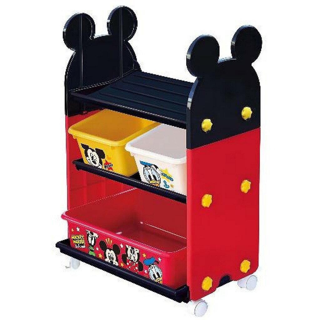 迪士尼收納/米奇收納架/玩具收納架/鞋架附輪子 *(高約70CM)【尋寶生活小舖】