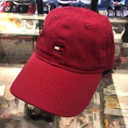 現貨 BEETLE TOMMY HILFIGER CAP 酒紅色  經典白紅LOGO 老帽 棒球帽 可調式 男女款