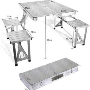 美麗大街【CP105111201】  露營便攜式鋁合金桌椅套組 免組裝