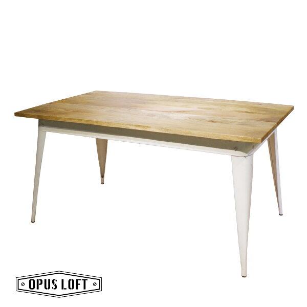 ★熱銷★復古工業風芒果木白鐵腳餐桌原木桌工作桌