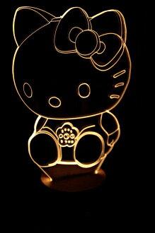 LED 造型 3D立體燈 Hello Kitty造型 木質底座 小夜燈 氣氛燈 造型燈 USB 生日禮物 聖誕禮物
